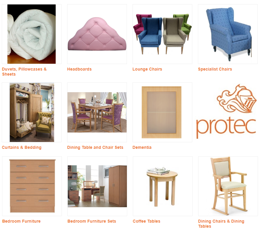 Furniture & Furnishings for the Care Sector