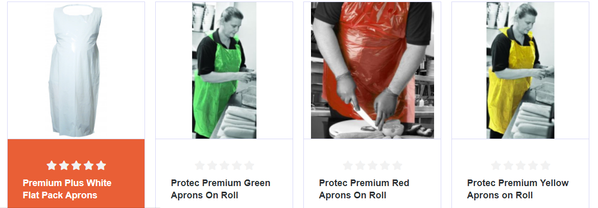 Covid-19 PPE Products from Protec®~ Aprons